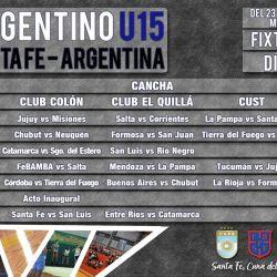 ARGENTINO U15: DIAS CONFIRMADOS Y MAS